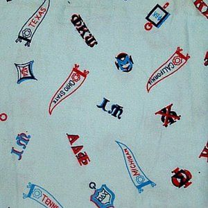 Vintage 50s Boys Cotton Flannel Fabric, Lot of 3